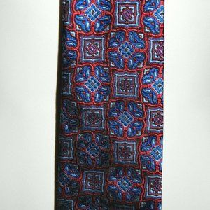 GEOFFREY BEENE New York Red Blue Paisley Tie